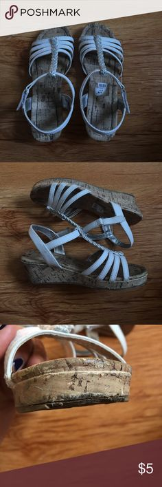Girls wedges Good used condition American Eagle by Payless Shoes Dress Shoes