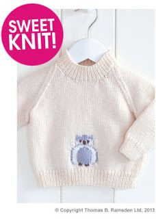 free knitting patterns including owl sweater, Rowan cowl and baby booties