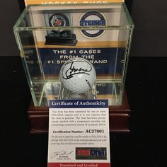 MIGUEL ANGEL JIMENEZ SIGNED 2008 RYDER CUP Vahalla Callaway Golf Ball PSA w/Case #Europe