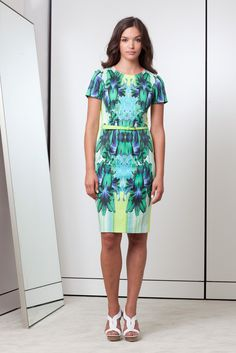 Elie Tahari Spring 2013 RTW - mirrored patterns are so on-trend right now