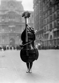 Walking Violin in Philadelphia Mummer's Parade, 1917