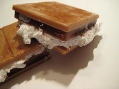 S'more Soap - I would be afraid kids would want to eat it ... but what I cute idea! :D