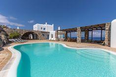 #Mykonos, Greek Charm Infusing #Villa Gracias a la Vida Overlooking Delos Island