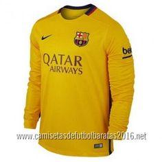 Camiseta de fútbol baratas manga larga Barcelona 2016 2ª equipación €21.99