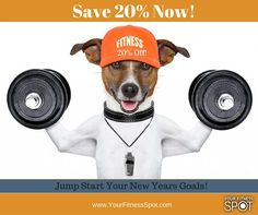 Shop @ http://yourfitnessspot.com/ and get a jump start on your New Year's Goals! #yourfitnessspot #exercise #motivation
