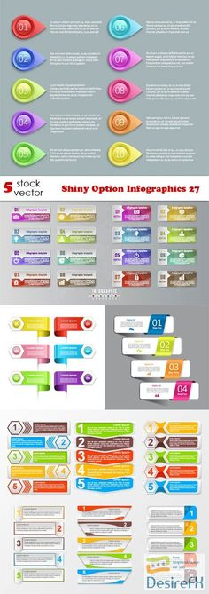 Vectors - Shiny Option Infographics 27