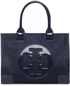 0b30476e166a  198 Tory Burch Ella Nylon Large Black Tote Bag Purse  2160-U4 885427179320