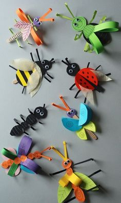 Crafts for kids Insect crafts Paper butterfly crafts Butterfly crafts Bug crafts Crafts - Learn how to make this simple paper butterfly craft It's a simple and colorful spring craft that kids - Animal Crafts For Kids, Spring Crafts For Kids, Paper Crafts For Kids, Summer Crafts, Toddler Crafts, Art For Kids, Arts And Crafts, Insect Crafts, Bug Crafts