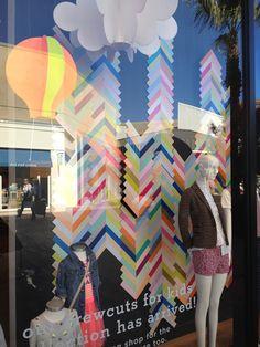 J.Crew store window-colored chevron