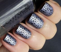 Oooh, Shinies! - Catrice How I Matt Your Mother with Kiko 622 Wisteria and MoYou-London plate 06 from the Pro collection.