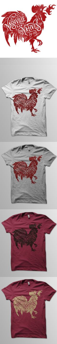 Nashville-natives-tees-dribbble, chicken, nashville natives, shirts, illustration, fire, dead