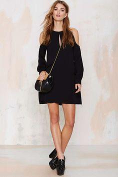 Nasty Gal Cut and Run Dress - Black - Dresses Lantern b1e2557a9