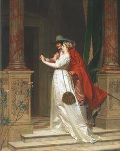 Бельгийский художник Florent Willems (1823-1905)   А я смотрю Вам в след, сияет отблеск окон, И шелк атласный переливами играет..... Обсуждение на LiveInternet - Российский Сервис Онлайн-Дневников