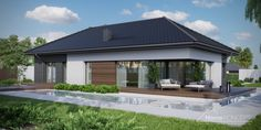 Projekt domu HomeKONCEPT-26   HomeKONCEPT Villa Design, Modern House Design, Good House, Home Design Plans, Home Projects, Ideal Home, Facade, House Plans, Exterior