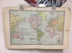 1894 Cram's Universal Atlas Chart Of The World Original Print  | eBay