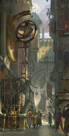 Piltover City from League of Legends, a cool steampunk inspired fantasy city Steampunk City, Ville Steampunk, Steampunk Kunst, Steampunk Artwork, Steampunk Wallpaper, Steampunk Bedroom, Steampunk Drawing, Steampunk Fashion, Steampunk Images