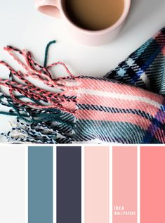 19 The Perfect Pink Color Combinations { pink salmon dark blue } color scheme,color palette , colors Pantone Colour Palettes, Color Schemes Colour Palettes, Pantone Color, Pink Palette, Blue Colour Palette, Dark Blue Color, Scheme Color, Pink Color Combination, Blue Color Combinations