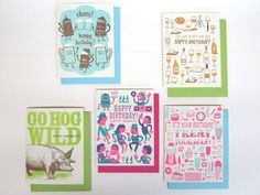 Our selection of birthday cards keeps growing! Check out these new birthday cards from Hello Lucky, letterpress masters from San Francisco.