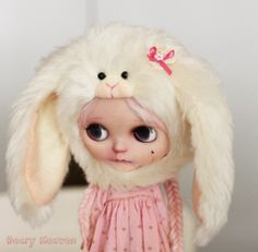 Frosty Bunny Alpaca by BearyHeaven