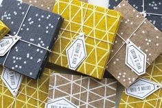 Patterned coaster sets from Cotton & Flax