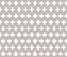 plus in grey fabric by candykirbydesigns on Spoonflower - custom fabric