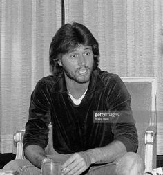 Barry Gibb during The Bee Gees In New York City - 1976 - 1979 at Plaza Hotel in New York City, New York, United States.