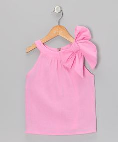 Pink Bow Top - Addie , Toddler & Girls