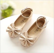 Children Princess Shoes Pink  Gold Silvers Band Soft Sole PU Leather  Fashion Bowknot Rhinestone Flower Girls Dress Shoes-in Sneakers from Mother    Kids on ... 135b2eceb191