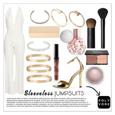 """""""Sin título #307"""" by juanita200321 ❤ liked on Polyvore featuring Max Azria, Lee Savage, Cartier, Kendall + Kylie, MAC Cosmetics, NARS Cosmetics, blacklUp and sleevelessjumpsuits"""