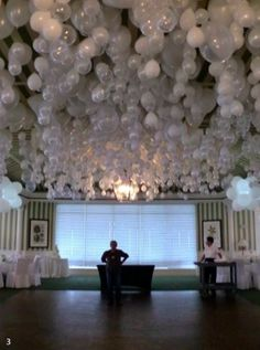 Balloons on ceilings - Party - Decor - Classy