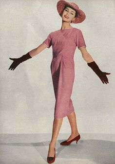 Harper's Bazaar, February 1958 ...clothes made the woman look lovely....