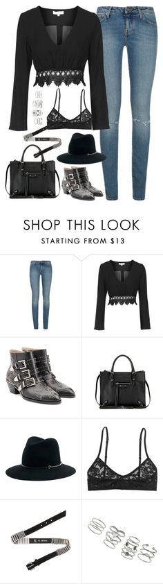 """""""Untitled#4412"""" by fashionnfacts ❤ liked on Polyvore featuring Yves Saint Laurent, Topshop, Chloé, Balenciaga, Janessa Leone, Monki, McQ by Alexander McQueen and Miss Selfridge"""