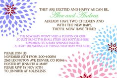 Sprinkle Baby Shower Boy or Girl Invitation by ATimeAndPlaceDesign, $12.00