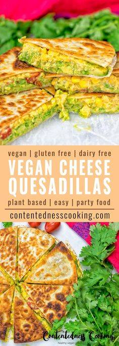 Vegan Cheese Quesadillas are live and it's time to jump on the Mexican food train – with just 6 ingredients, 3 easy steps and of course gluten free. Plant based, dairy free.