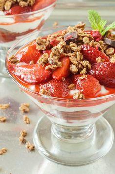 Roasted Strawberry Parfaits