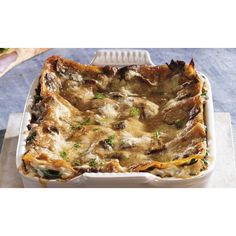 Porcini Lasagne with Fresh Spinach
