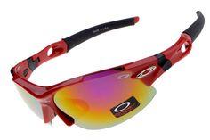 ad682a5789 Oakley Half Jacket Red Black Frame Ruby IRIDIUM sale online