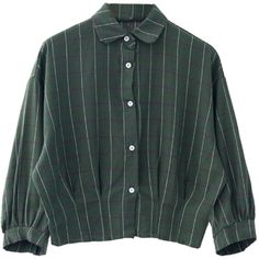 Choies Green Plaid Elastic Hem Long Sleeve Shirt ($28) ❤ liked on Polyvore featuring tops, shirts, blouses, choies, green, long-sleeve shirt, green tartan shirt, green plaid shirt, green shirt and long sleeve shirts
