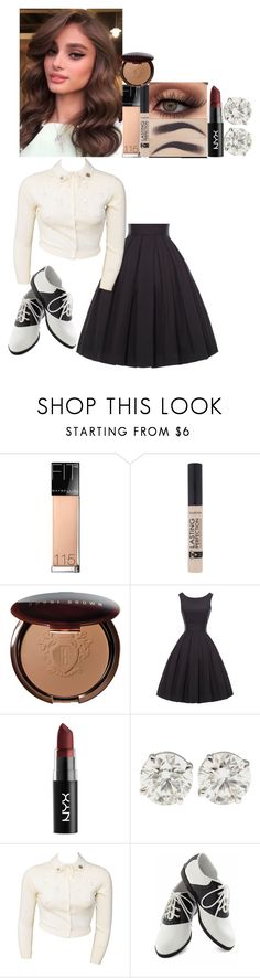 """""""Babys dream / baby driver // 2017"""" by fuckmeirwin ❤ liked on Polyvore featuring Maybelline, Bobbi Brown Cosmetics, NYX and Pinup Couture"""
