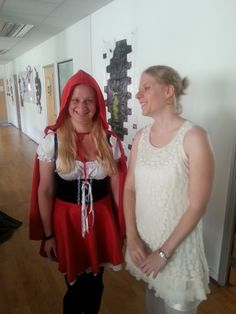 Little red riding hood and a ghost