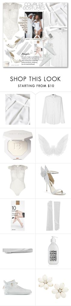 """Couples Costumes: 26/10/17"" by pinky-chocolatte ❤ liked on Polyvore featuring Versace, River Island, Sophia Webster, John Lewis, BUSCEMI, Suzanne Kalan and couplescostumes"