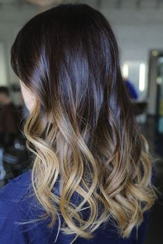 I am beginning to fall in love with ombré hair.