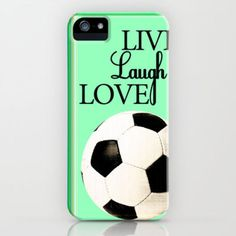 Live, Laugh, Love, Soccer iPhone Case by Brett Koehmstedt
