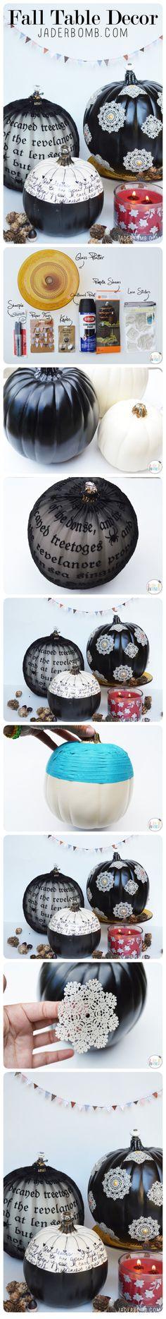 DIY Black Pumpkins halloween halloween party halloween decorations halloween crafts halloween ideas diy halloween halloween pumpkins halloween jack o lanterns halloween party decor jack o lantern ideas