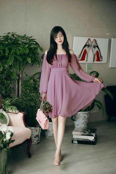 milkcocoa(MT) daily 2017 feminine& classy look Stylish Dresses, Simple Dresses, Pretty Dresses, Beautiful Dresses, Casual Dresses, Korean Fashion Dress, Ulzzang Fashion, Asian Fashion, Fashion Dresses