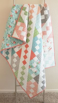 Hello! My name is Allison Jensen of Woodberry Way and I'm excited to be back in the Bake Shop today with an easy quilt pattern. This one uses Charm squares for a crib quilt, or a Layer Cake …
