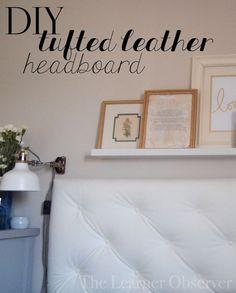 DIY Leather Tufted Headboard