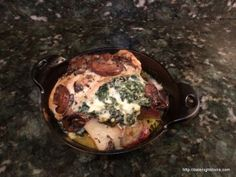 Spinach Gorgonzola Stuffed Chicken Breasts pellet grill recipe BBQ smoker