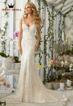 Custom Made Sexy Lace Mermaid Wedding Dress 2017 V Neck Backless Beading Latest Bridal Dresses Hot Sale Vestido De Noiva IV301