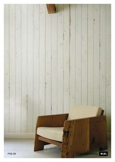 $325 + $18 samples. Shipping? No. 8 Scrapwood Wallpaper design by Piet Hein Eek for NLXL Wallpaper | BURKE DECOR